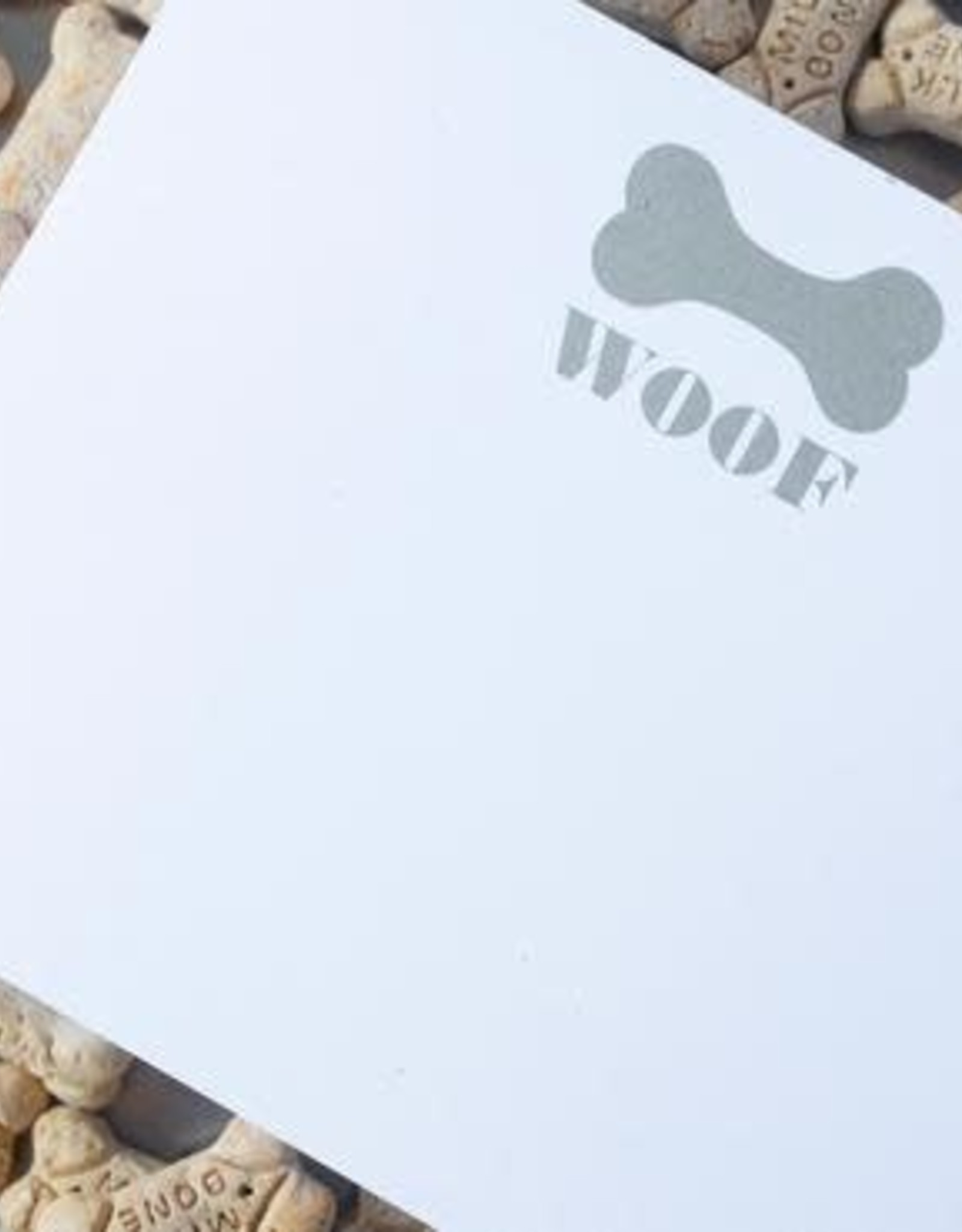 Black Ink Woof Luxe Notepad