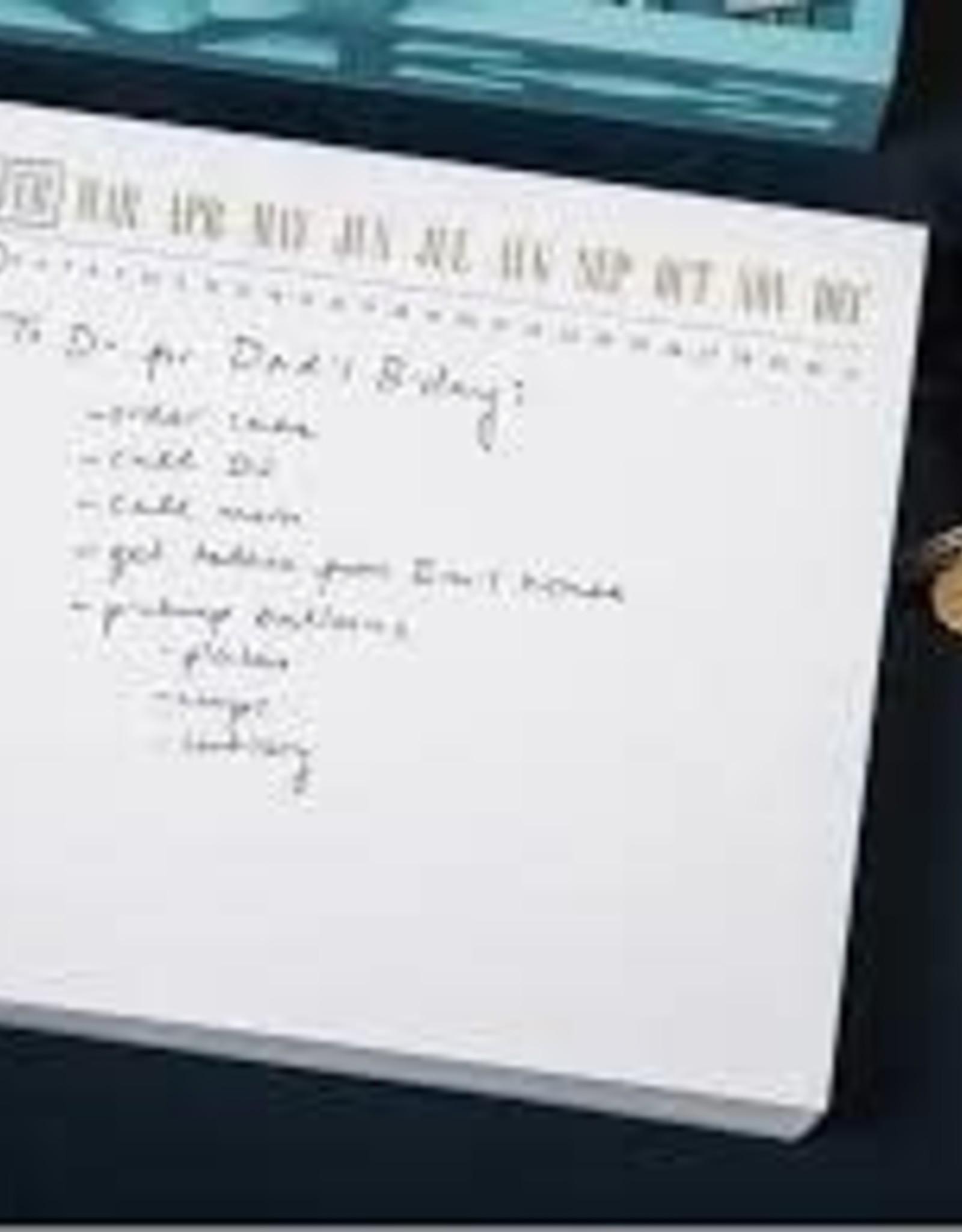 Black Ink Calendar Luxe Notepad