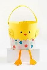Waste Not Paper Chick in Egg Easter Basket
