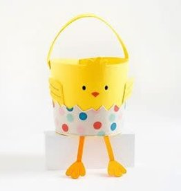Waste Not Paper Chick in Egg Easter Basket