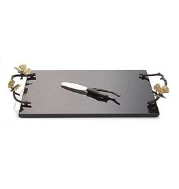 Home Butterfly Ginkgo Cheeseboard with Knife