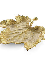 Gifts Grapeleaf Snack Plate Gold