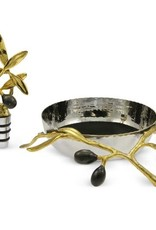 Gifts Olive Branch Wine Coaster and Stopper Set