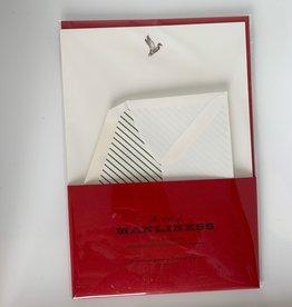 Stationery AOM Letter Writing Set of 10 Sheet/Envelopes - Mallard