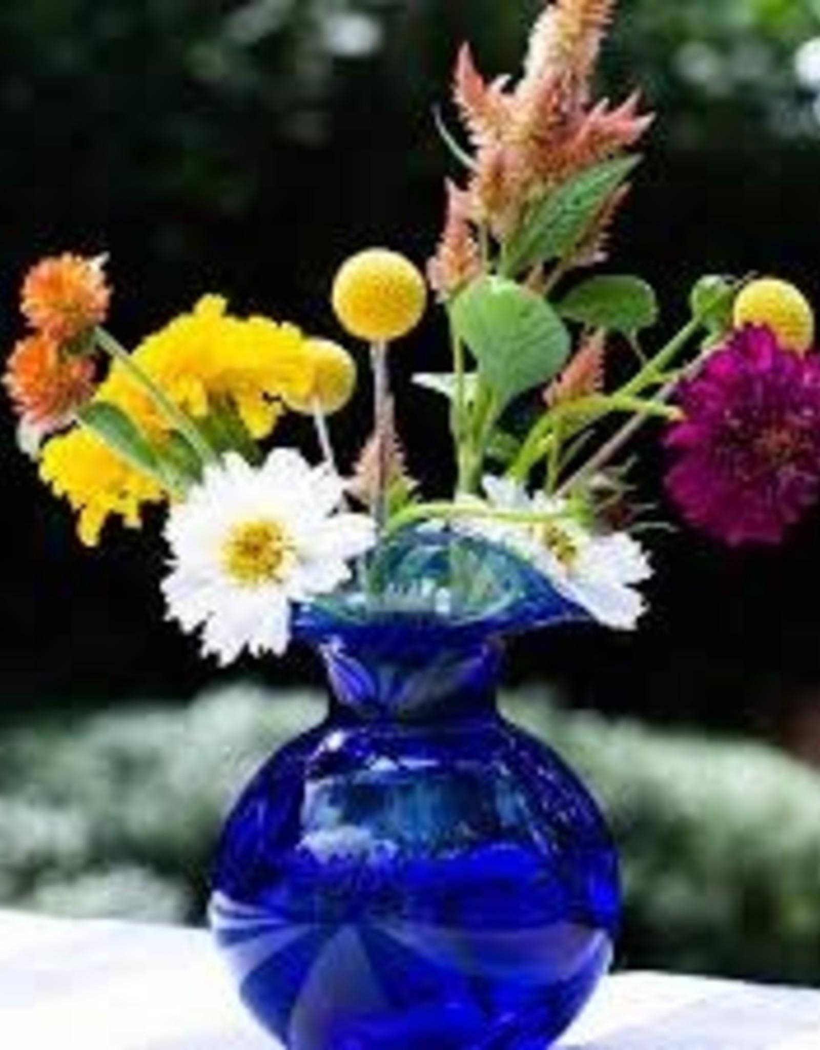 Vietri Hibiscus Bud Vase - Cobalt