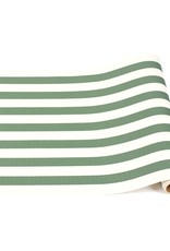 "Home Dark Green Classic Stripe Runner - 20""x25"""