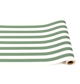 "Home Dark Green Classic Stripe Runner - 20""x25"""