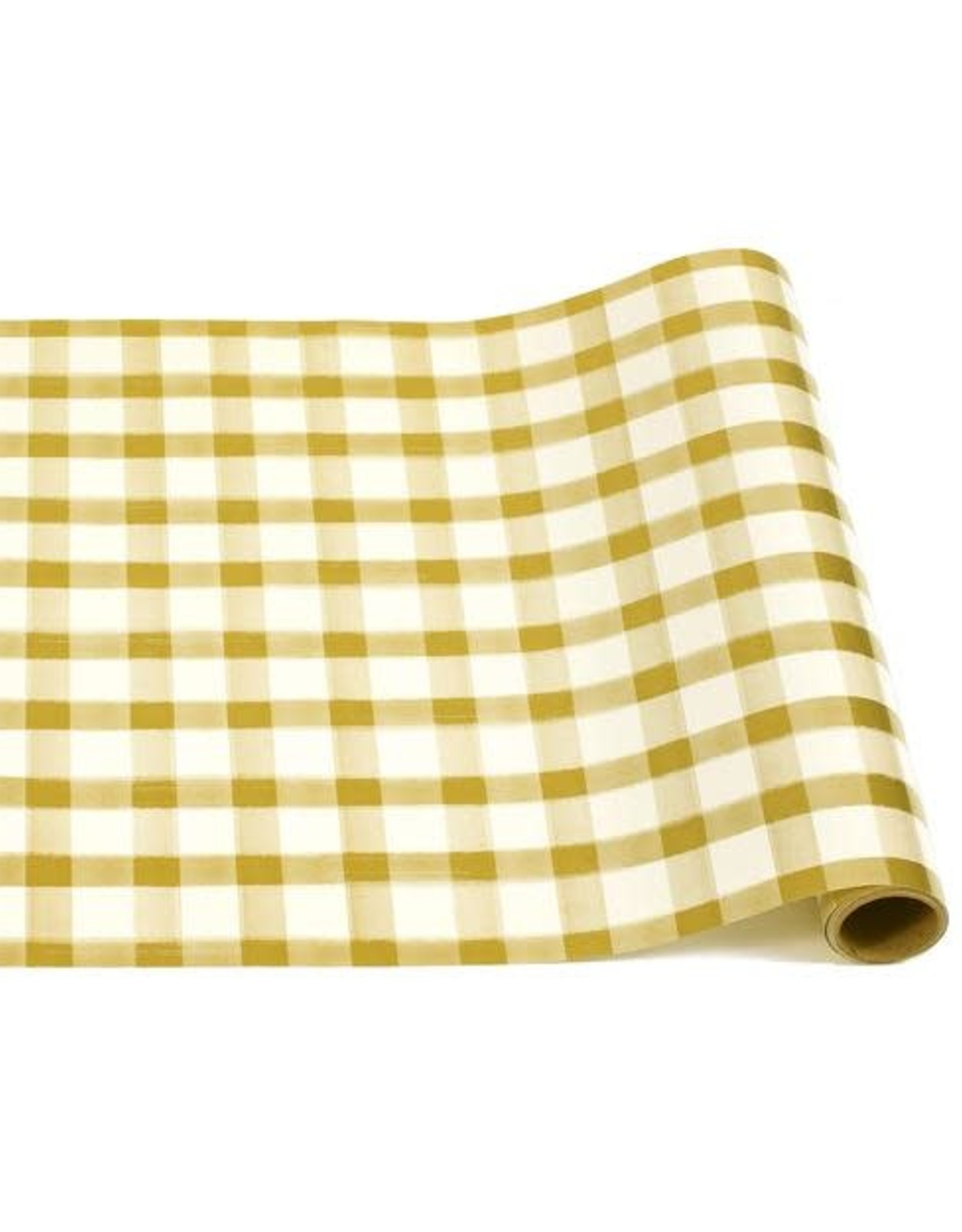"Home Gold Painted Check Runner - 20""x25'"