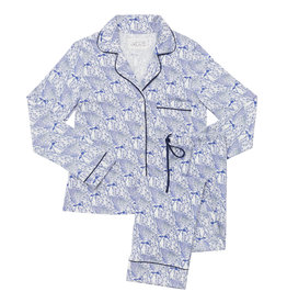 The Cat's Pajamas Peacock Flock Pima Kint Pajamas