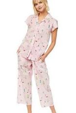 The Cat's Pajamas Promenade Luxe Pima Capri