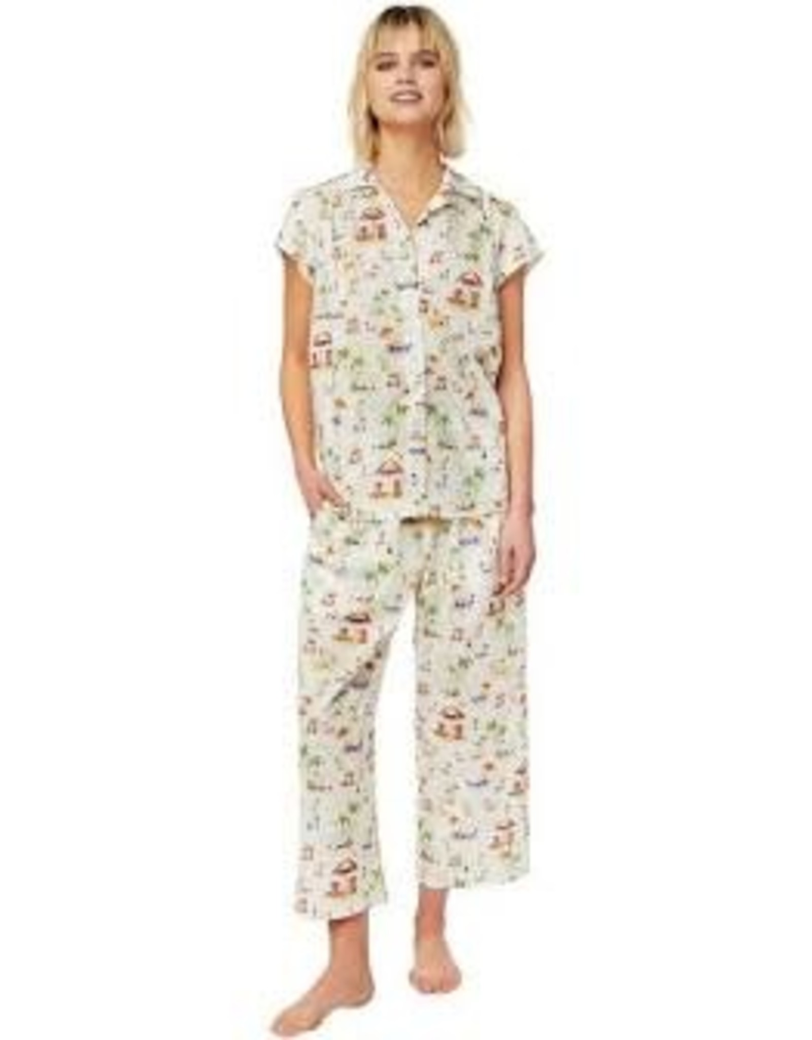 The Cat's Pajamas Paradise Cove Luxe Pima Capri