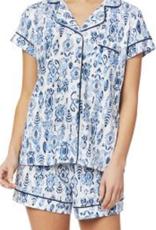 The Cat's Pajamas Ikat Pima Knit Short Set