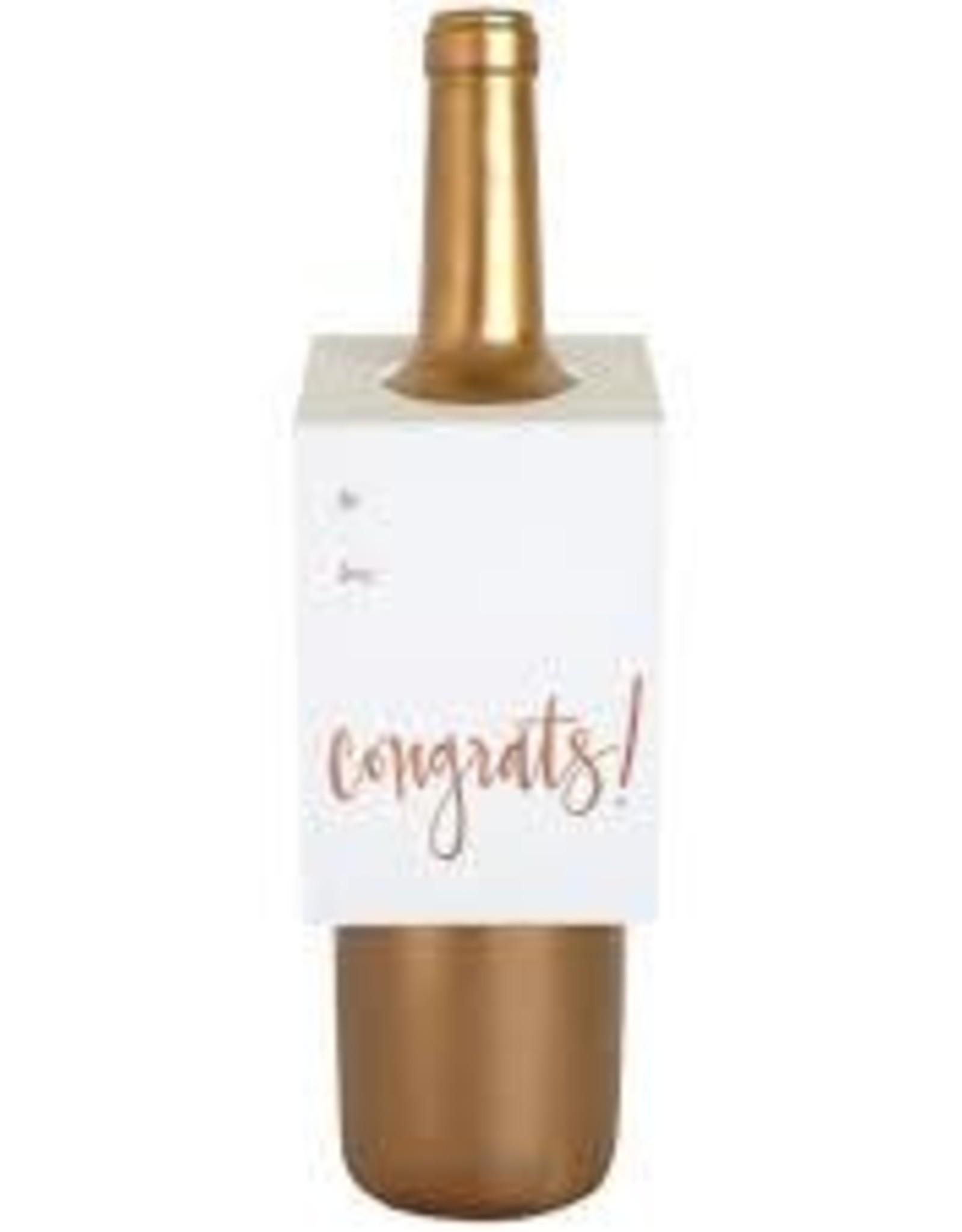 Chez Gagne Congrats Rose Gold Bottle Tag