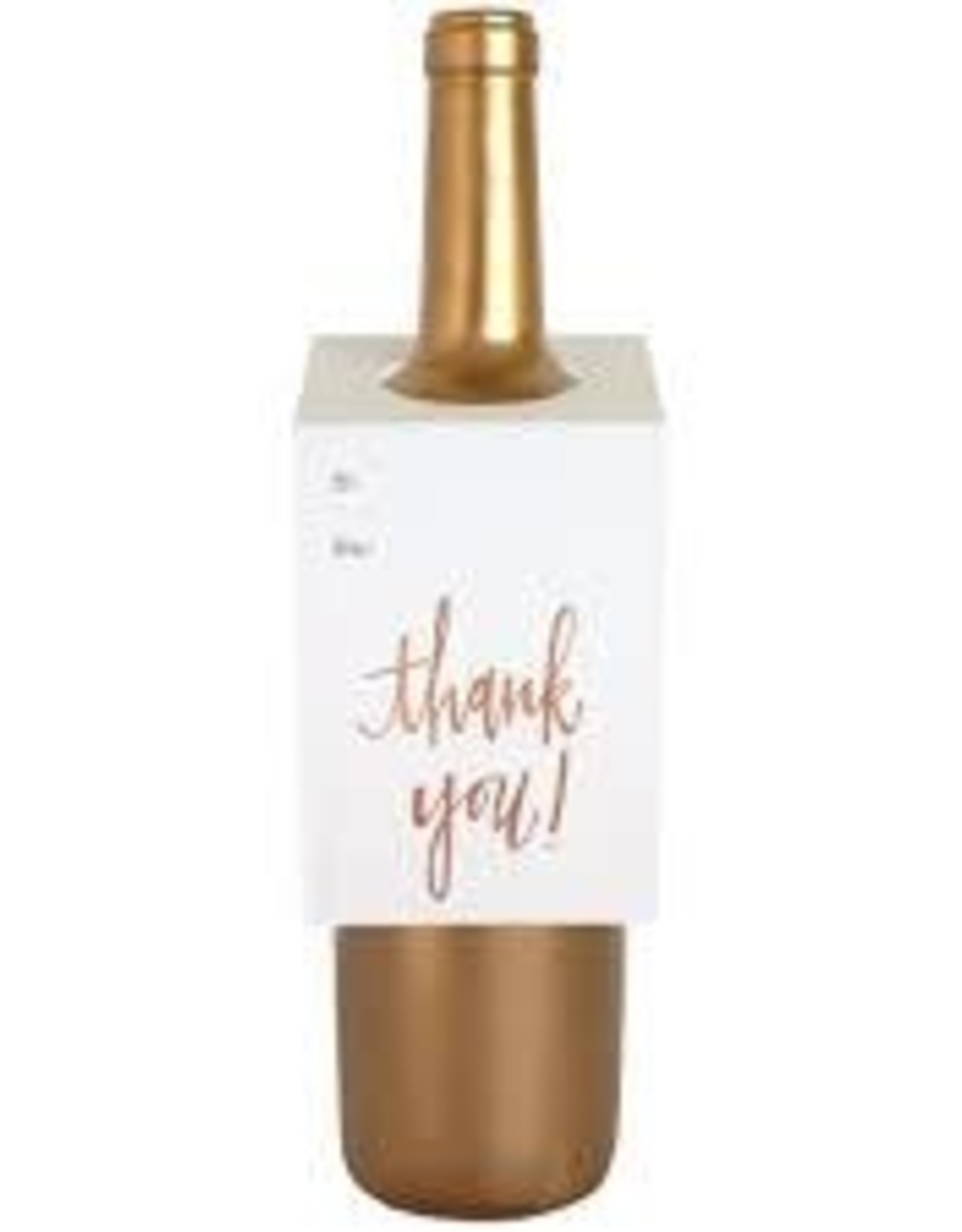 Chez Gagne Thank You Rose Gold Bottle Tag