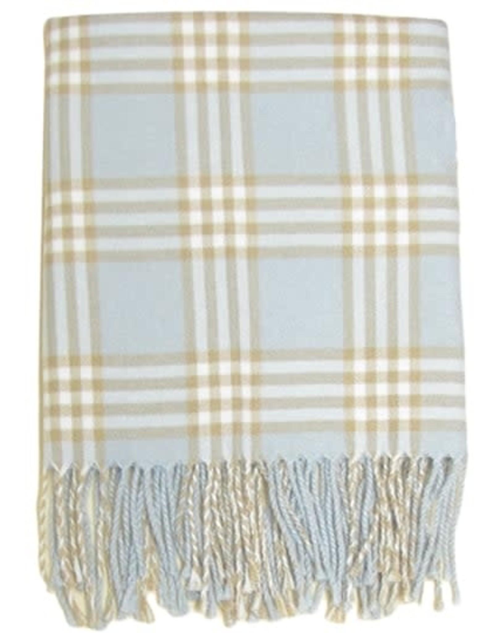 A Soft Idea Plaid Receiving Blanket