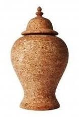 "Home Quinta Natural Cork Ginger Jar, 17.5""H"