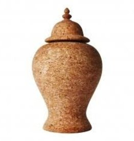 "Home Quinta Natural Cork Ginger Jar, 17.5""H"