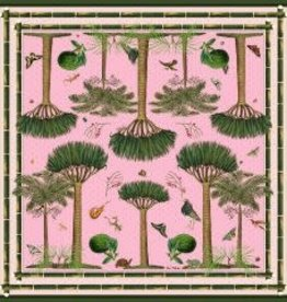 Carson & Co The Palms Pink Scarf