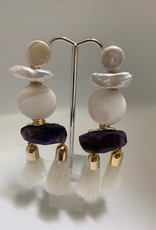 Gifts Double Tassel and Pearl Earrings