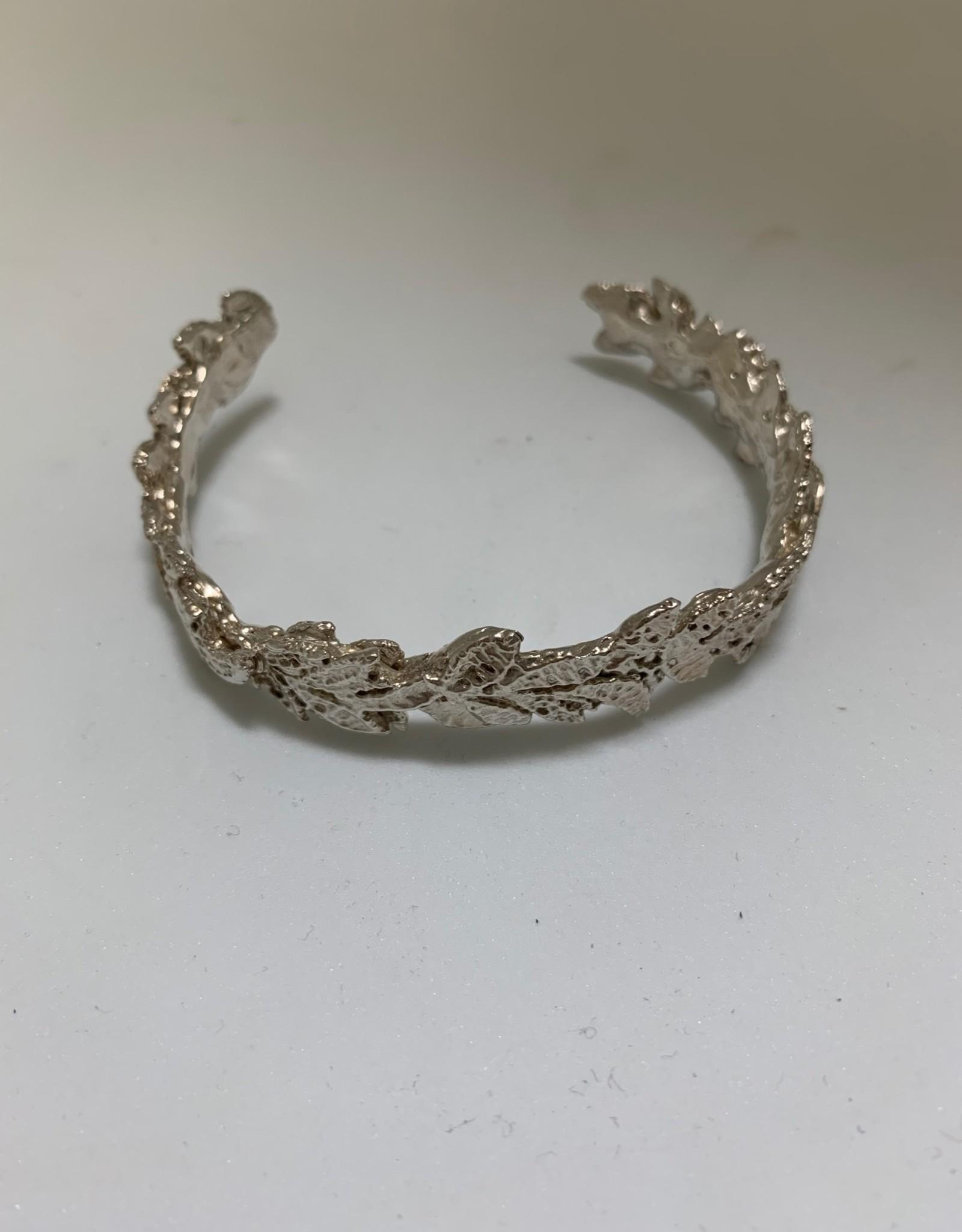 Gifts Silver Cascading Leaf Cuff