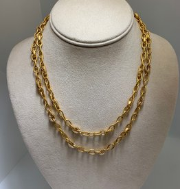 Gifts Alternating Pave Link Long Wrap Necklace