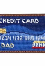 Smathers and Branson Needlepoint Credit Card Wallet with Leather