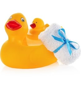 Seda France Duck Gift Set - Bath Towel, Duck Soap and Reusable Duck Soap Holder