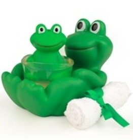 Seda France Frog Gift Set - Bath Towel, Frog Soap and Reusable Frog Soap Holder