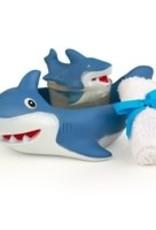 Seda France Shark Gift Set - Bath Towel, Shark Soap and Reusable Shark Soap Holder