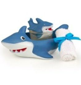 Seda France Shark Gift Set - Bath Towel, Shark Soap and Reusable Shark Soap Holder