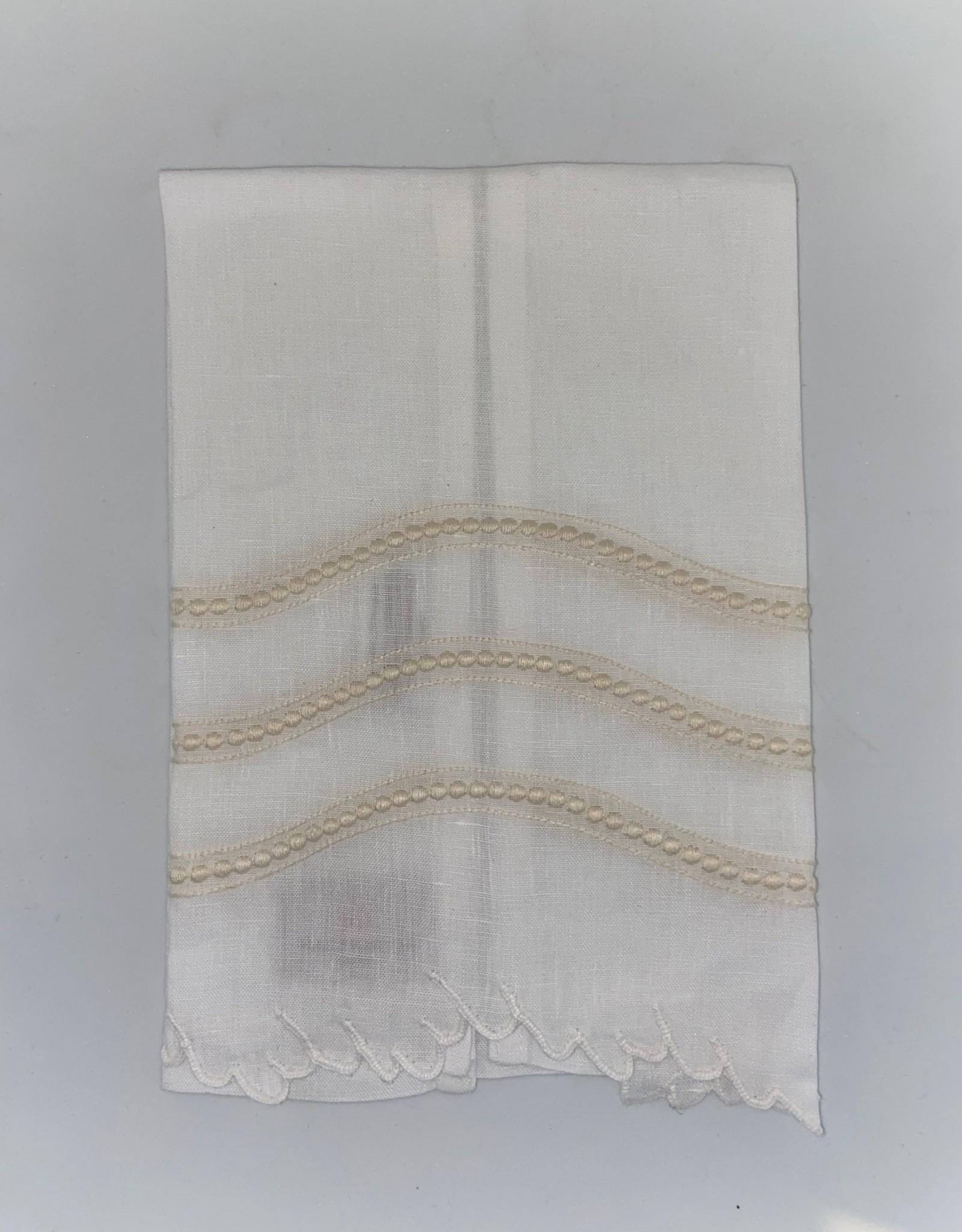 Home Frieda Tip Towel, Cream