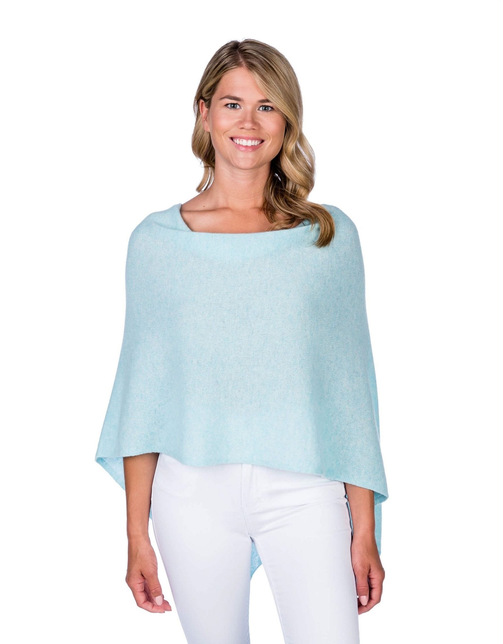Gifts Cashmere Knit Solid Color Cape