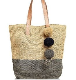 Gifts Montauk Crocheted Colorblock Tote in Natural and Dove