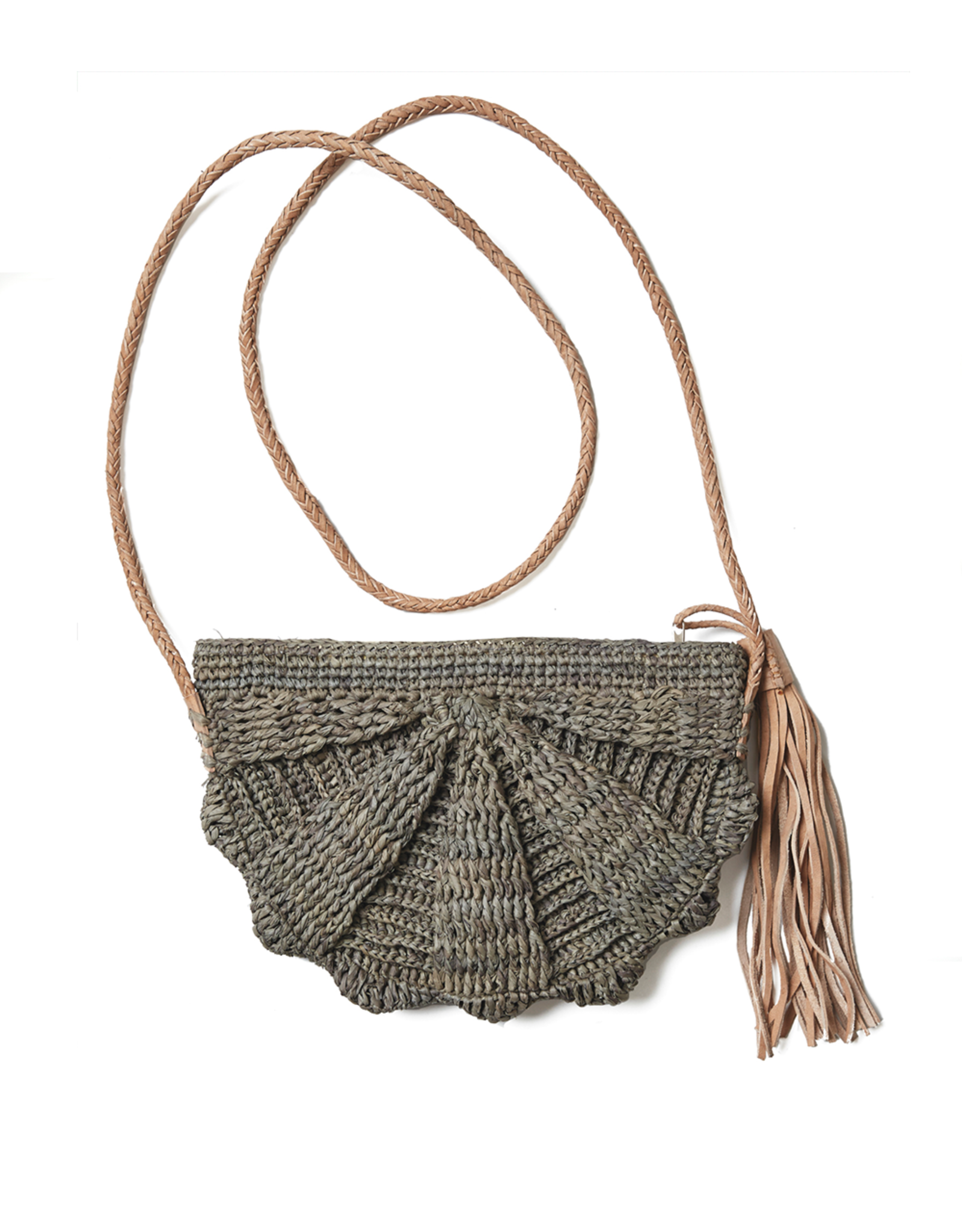 Gifts Zoe Fan Crossbody with Tassel in Dove