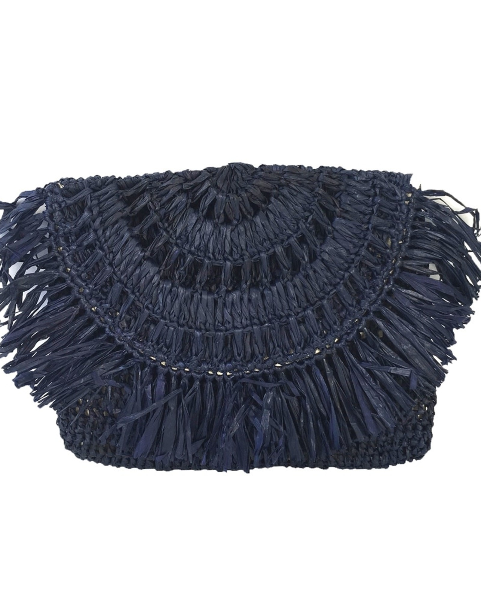 Gifts Mia Fringe Pouch in Navy