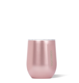 Corkcicle 12oz Rose Metallic Stemless