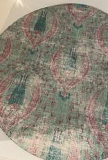 "Nicolette Mayer Pebble 16"" Round Byzantine Jewel Green Placemat Set of 4"