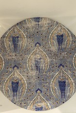 "Nicolette Mayer Pebble 16"" Round Byzantine Jewel Classic Placemat Set of 4"