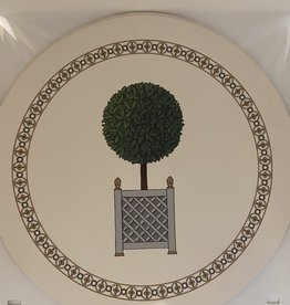 "Nicolette Mayer Timothy Corrigan 16"" Round Pebble Parterre Topiary Placemat Set of 4"