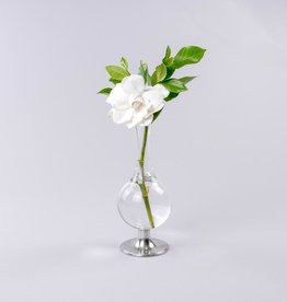 Home Pewter Footed Glass Vase