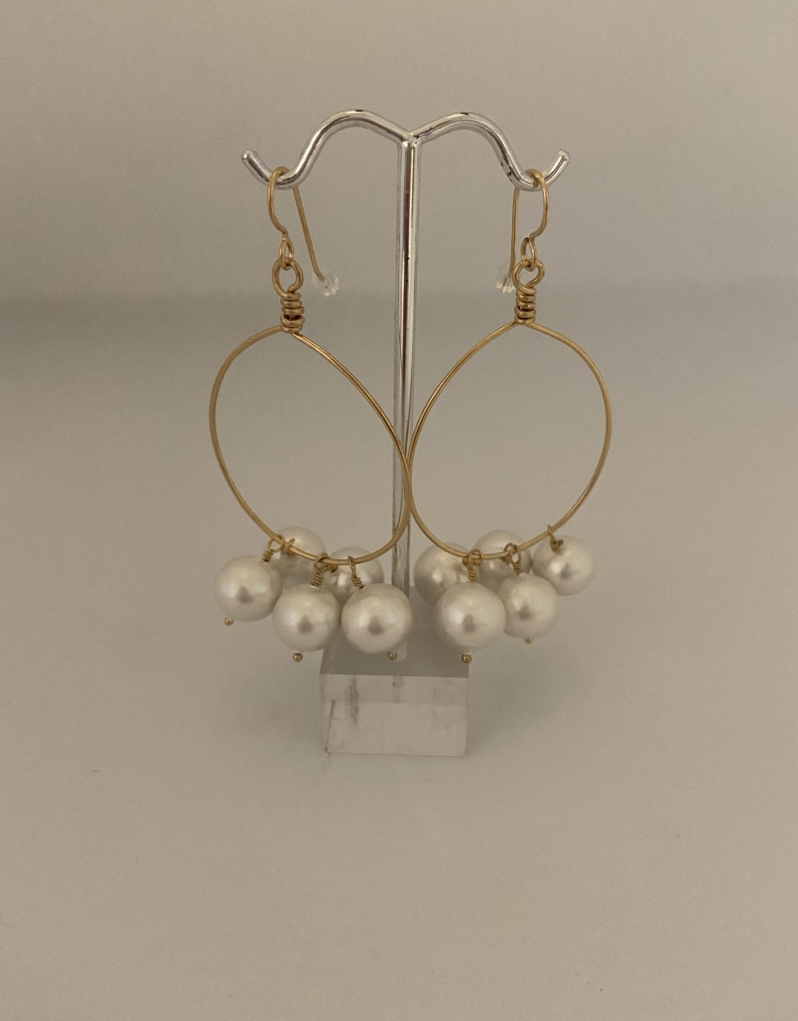 Wendy Perry Designs Cristina Cotton Ball Earrings