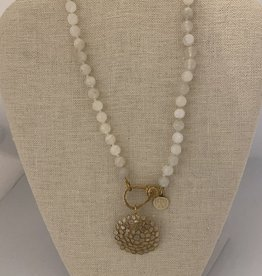 Wendy Perry Designs Austria Necklace with Moonstone and Rose Cut Diamonds