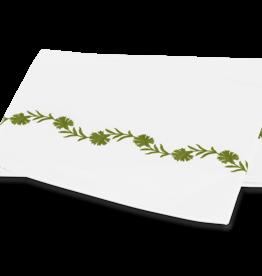 Matouk Daphne - Floral Vine Embroidery on White Ceylon Percale