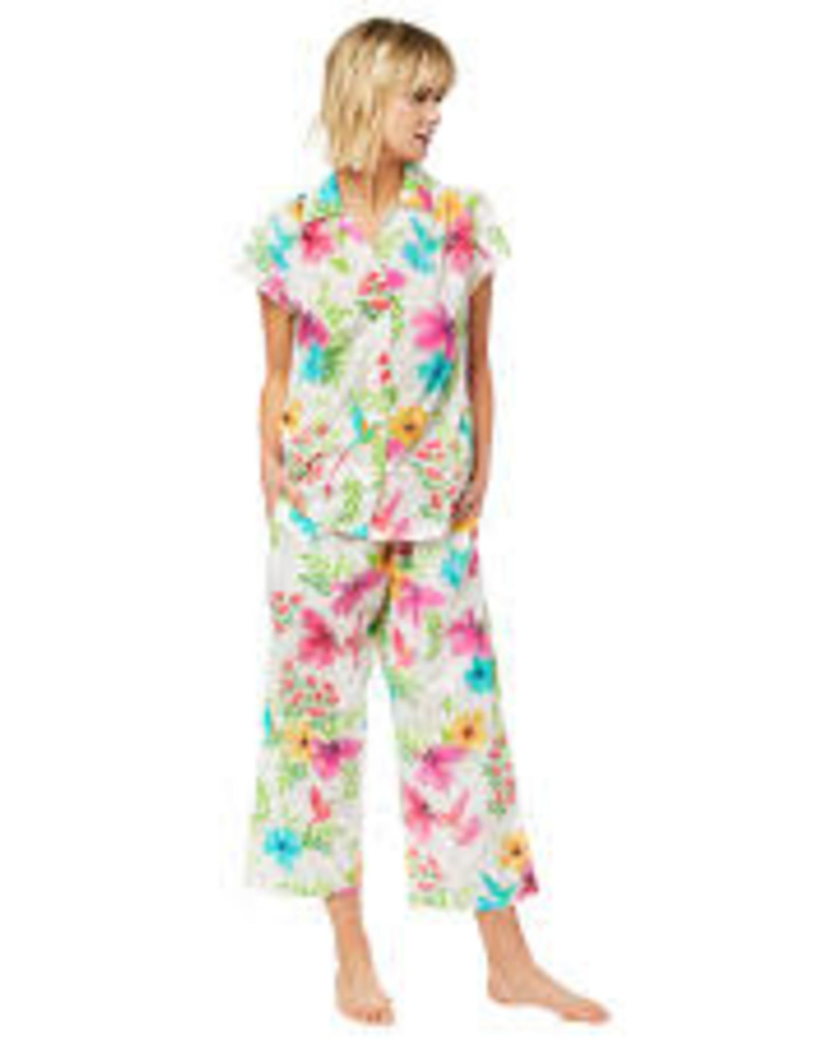 The Cat's Pajamas Tropicana Luxe Pima Capri