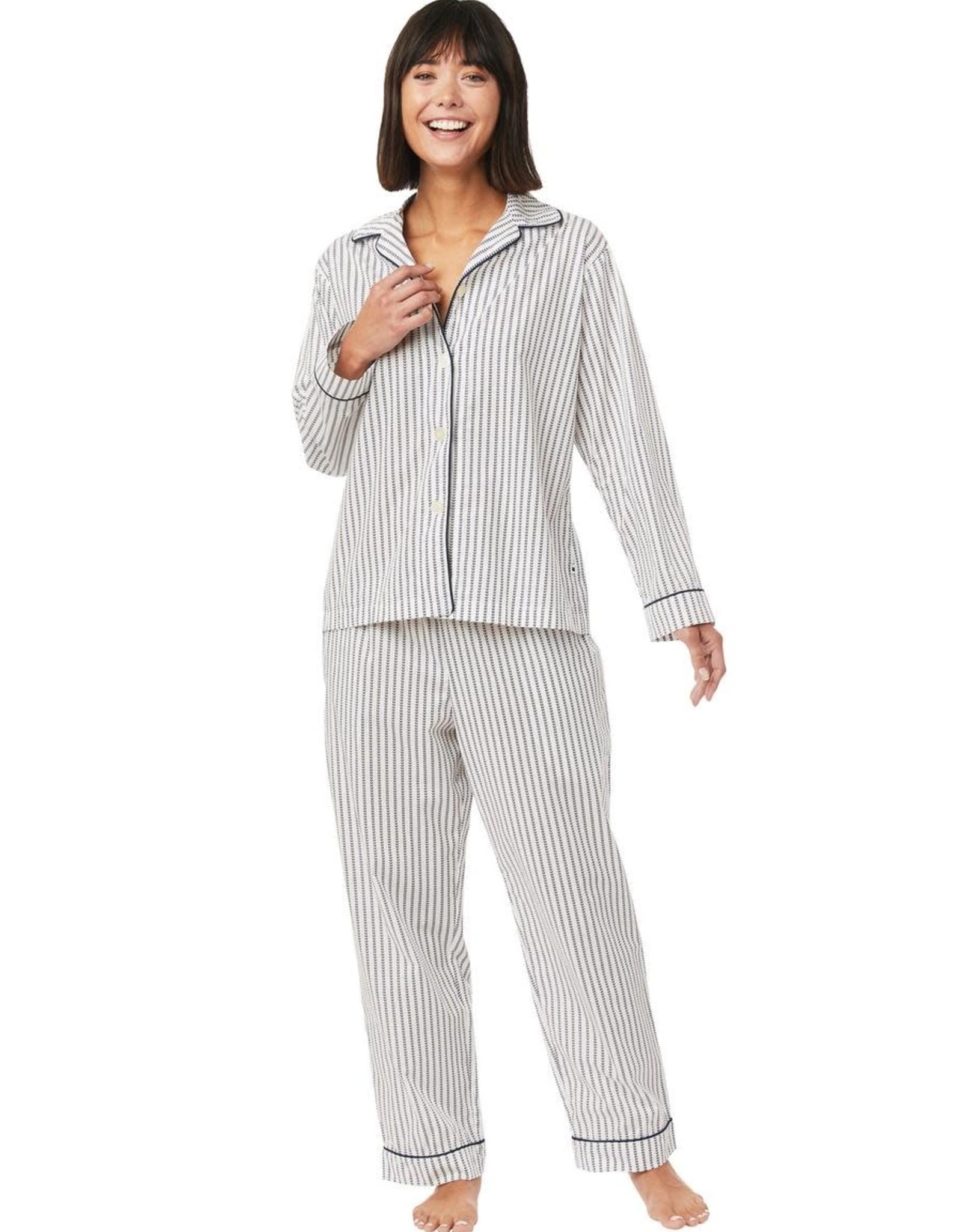 The Cat's Pajamas Petal Stripe Luxe Pima Pajamas