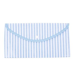 Mainstreet Collection Blue Stripe Envelope Pouch