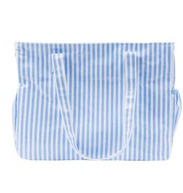 Mainstreet Collection Blue Stripe Diaper Bag