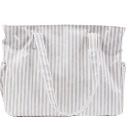 Mainstreet Collection Gray Stripe Diaper Bag