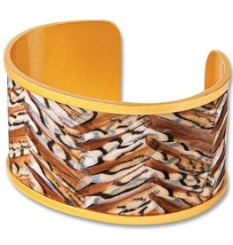 Brackish Julie Wide Cuff - Pheasant Feathers