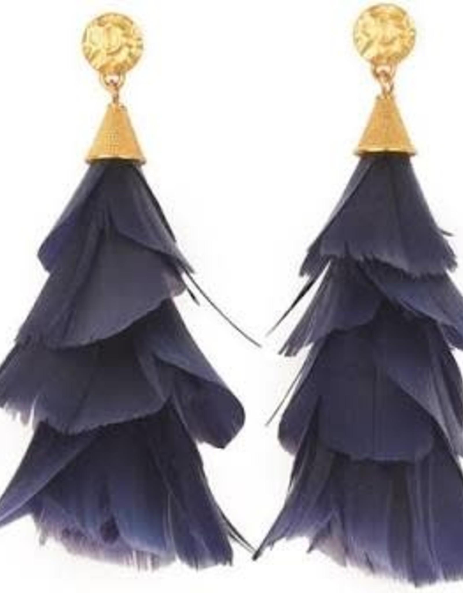 Brackish Jess Earring - Goose Feathers